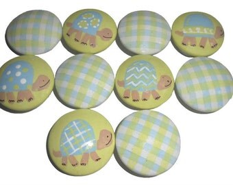 10 Turtle Baby Custom Nursery Hand Painted Drawer Pulls Knobs