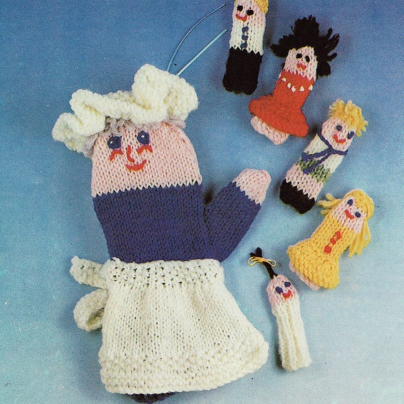 Finger Knitting Rhyme : Instant download vintage knitting pattern by