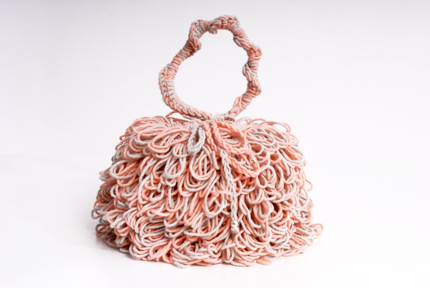 Handmade Crochet Handbags : Women crochet Bags & Purses handmade crochet bag pink by kikapaca