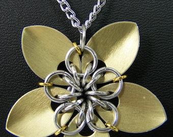 Golden Forever Flower Necklace
