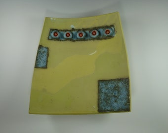 Handmade Pottery Slab Platter- Somewhere I Have Been