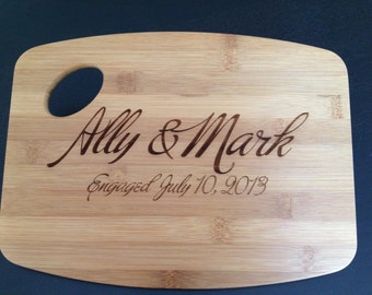 Personalized Cutting Board Custom Engraved  engraved cutting board Wedding  Gift  Anniversary