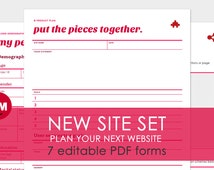 New Site Set: 7 Editable Website Worksheets in 12 PDF Files - Printer Friendly and Expertly Designed