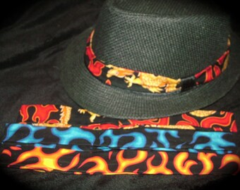 Skull and Flames Hat Bands (sold separately) //skull prints coming soon//