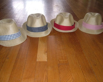 Fedora Hat w. Detachable Hat Bands! Get all four looks with just one hat! This listing includes ONE BAND only.