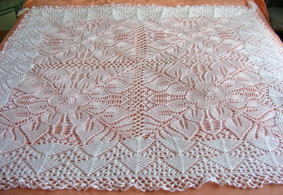 Free Knitting Pattern For A Baby Shawl : One for the Girls baby shawl knitting pattern 4ply Instant