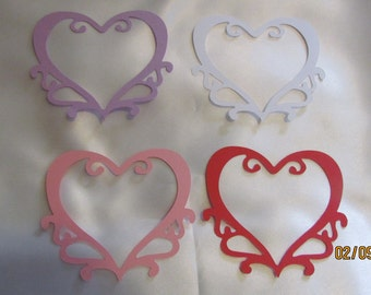 large swirl heart die cuts
