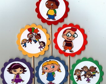 Little Einstein Cupcake Toppers Birthday Party Decorations Set of 12