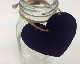 Wooden Chalkboard Hearts with Twine