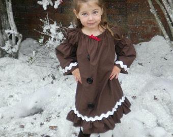 3m - 5t Gingerbread Man Peasant Dress
