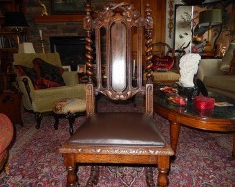 ANTIQUE CARVED CHAIR