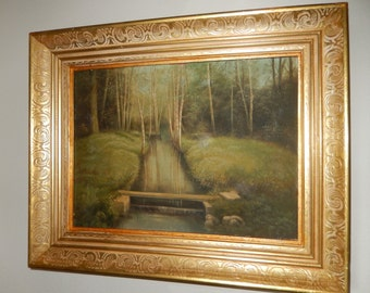 ORIGINAL ANTIQUE PAINTING by Unknown Artist