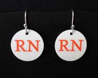 NURSE EARRINGS - Custom Charm Earrings - Fun!!! Great Gift