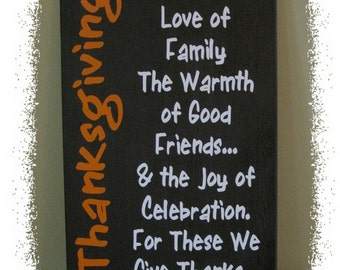 """Thanksgiving Wood Sign; Family, Inspirational; Holiday; Home Decor; Vinyl Lettering, 16"""" x 26"""";"""