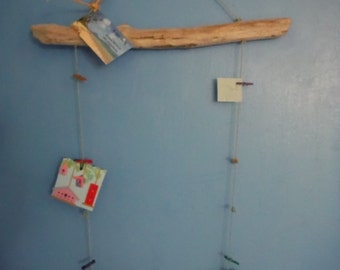Driftwood Photo/Note Hanging Display