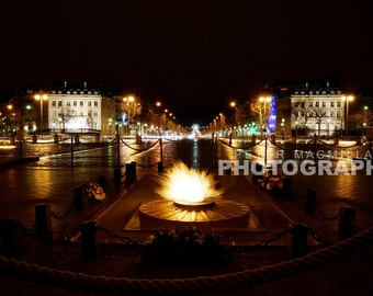 Eternal Flame Glow - Arc de Triomphe Panoramic View - Paris