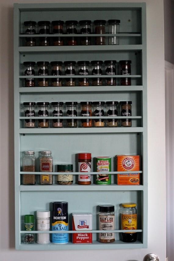 pantry door spice rack by waynestruction on etsy. Black Bedroom Furniture Sets. Home Design Ideas