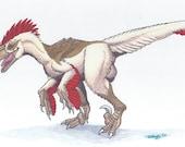 Velociraptor: Original Marker Drawing