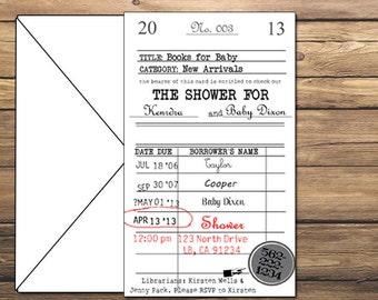 Vintage Library Card Invitation DIY Printable