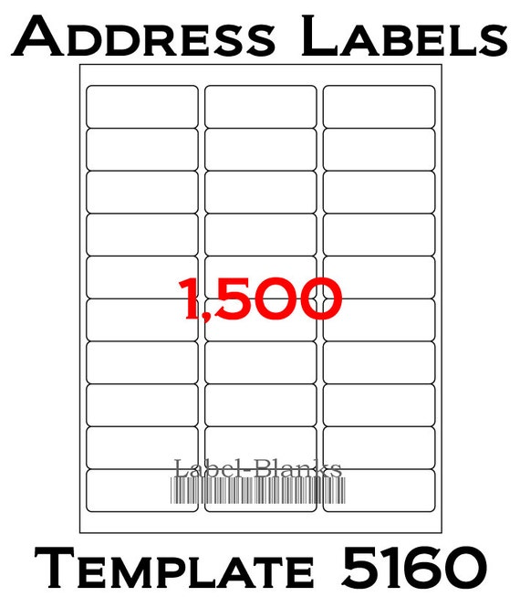 Laser ink jet labels 50 sheets 1 x 2 5 8 avery for Label template 65 per sheet