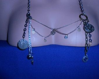 Steampunk clockwork metal necklace