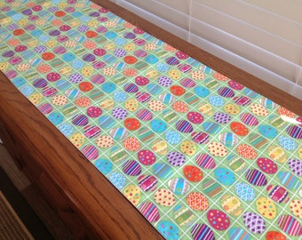 Easter Table Runner in a Colorful Egg Pattern