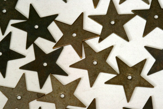 50 pcs antique tone brass star 16 mm charms ,findings AB236-22
