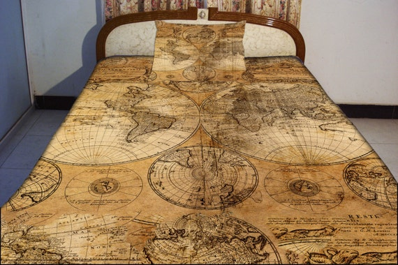 Bed Sheets World Map Map Bedding Set World Map