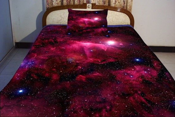 galaxy bedding set two sides printing galaxy twin by tbedding. Black Bedroom Furniture Sets. Home Design Ideas