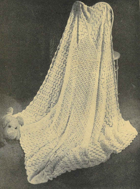 Vintage Shawl Knitting Patterns : Dream shawl vintage baby shawl knitting pattern PDF shetland