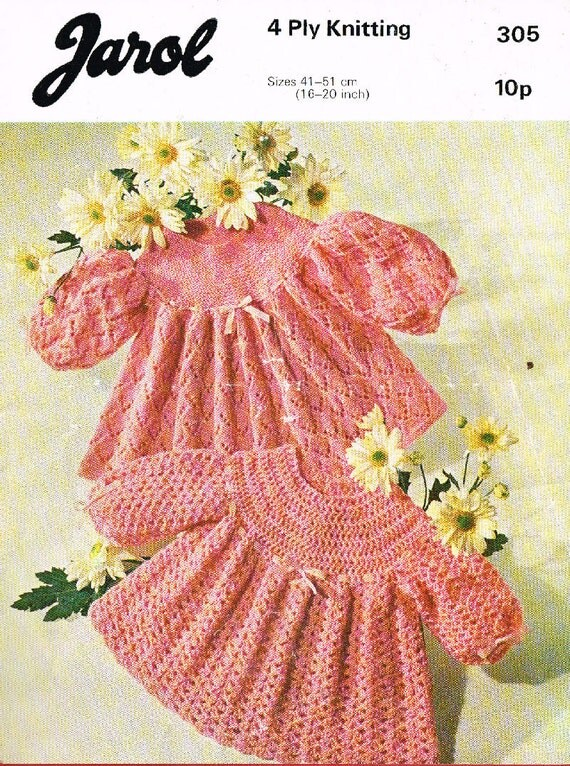 Jarol Knitting Patterns : Jarol 305 baby matinee dresses vintage knitting and by Ellisadine