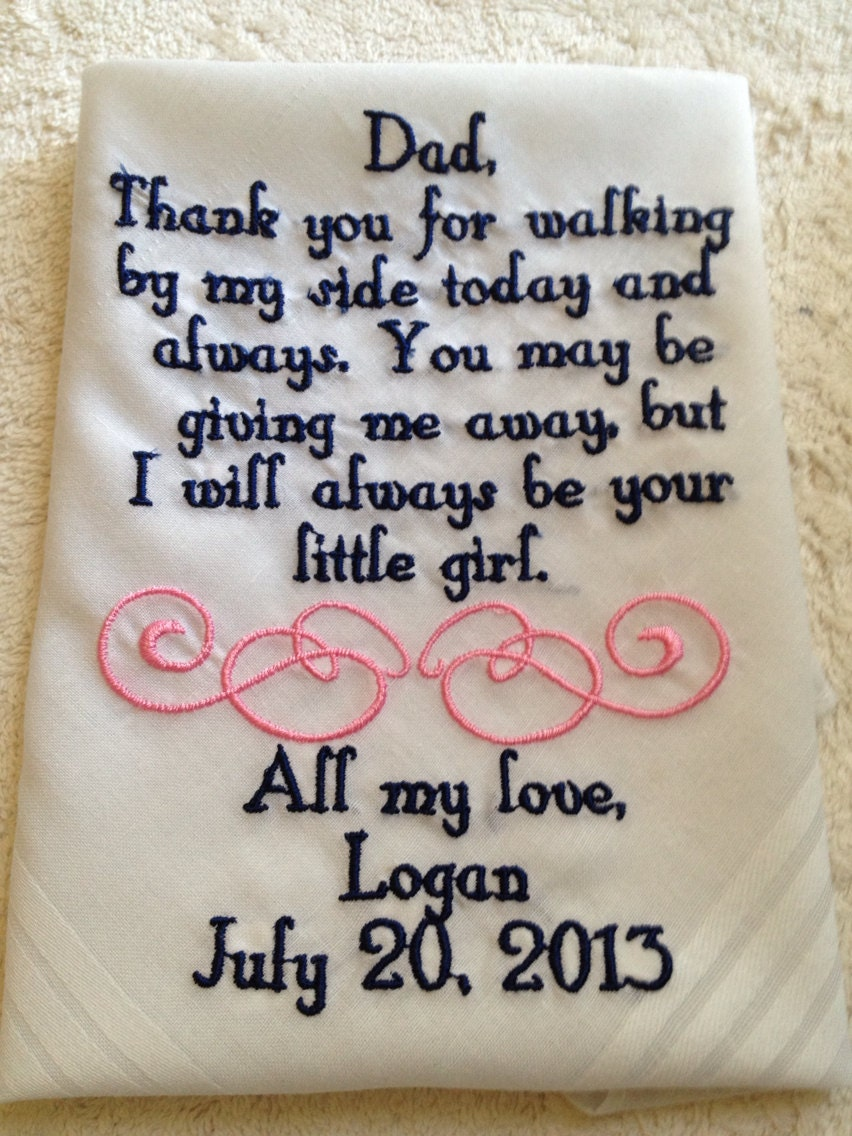 Parent Wedding Gift Quotes : Personalized Father of the Bride wedding by BrideEmbroidery