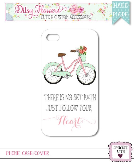 No Set Path Bike Quote Phone Case (Q6)