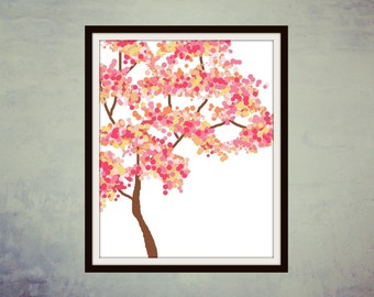 Printable Art, Digital Art, Wall Decor, Printable Print, Modern Art, Wall Art, Digital Print, Home Decor, Cherry Blossom