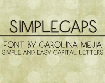 Instant Download - Digital SimpleCaps Font