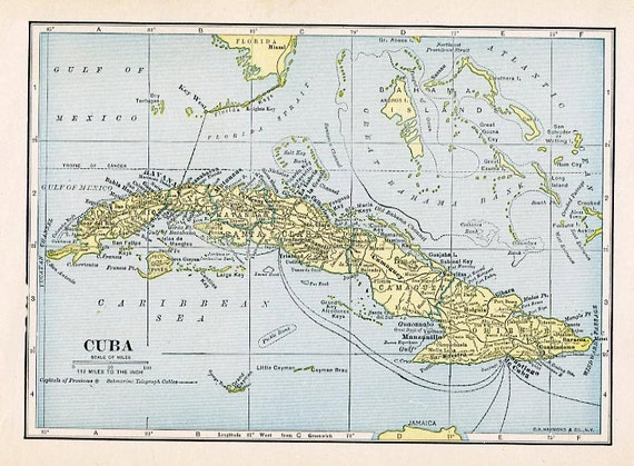 Universal image throughout printable map of cuba