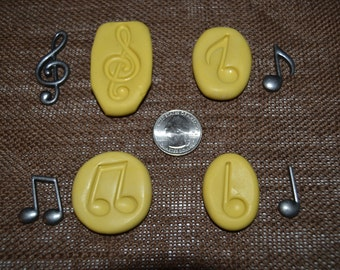 Music Notes Silicone Molds Set