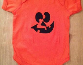 Jack-o-lantern Pumpkin Shirt or Baby Bodysuit