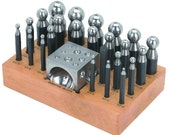 Deluxe Steel Dapping Block Doming Punch Set with 24 Punches High Quality