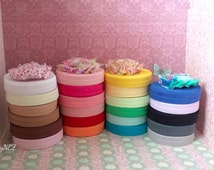 "5 yards of shiny Fold Over Elastic - 5/8"" FOE - you choose ONE color"