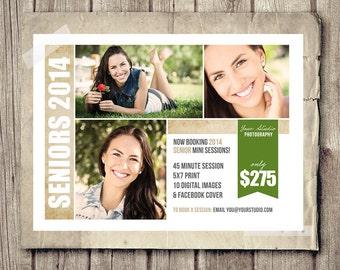 INSTANT DOWNLOAD Senior Photography Marketing Postcard