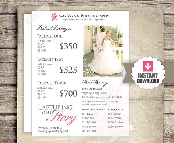 Wedding Photography Package Names: Wedding Photography Price List Session Packages Pricing