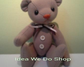 PDF - Basic Teddy Bear (size M) : Bear pattern (only pattern&description , NO instruction).