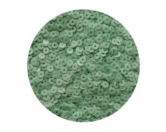 4mm Flat Sequins Mint Green Opaque