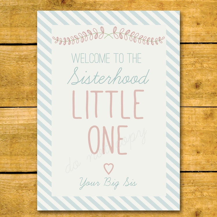 Wedding Gift For Sorority Sister : Sorority Little Sister Print Perfect Printable by CiCiCreative
