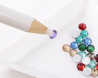 White wax rhinestone picker pencil
