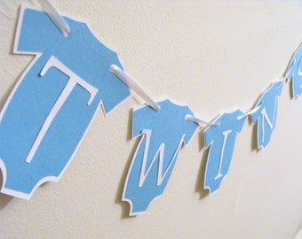 Popular items for boy decorations on etsy for Baby shower decoration ideas for twin boys