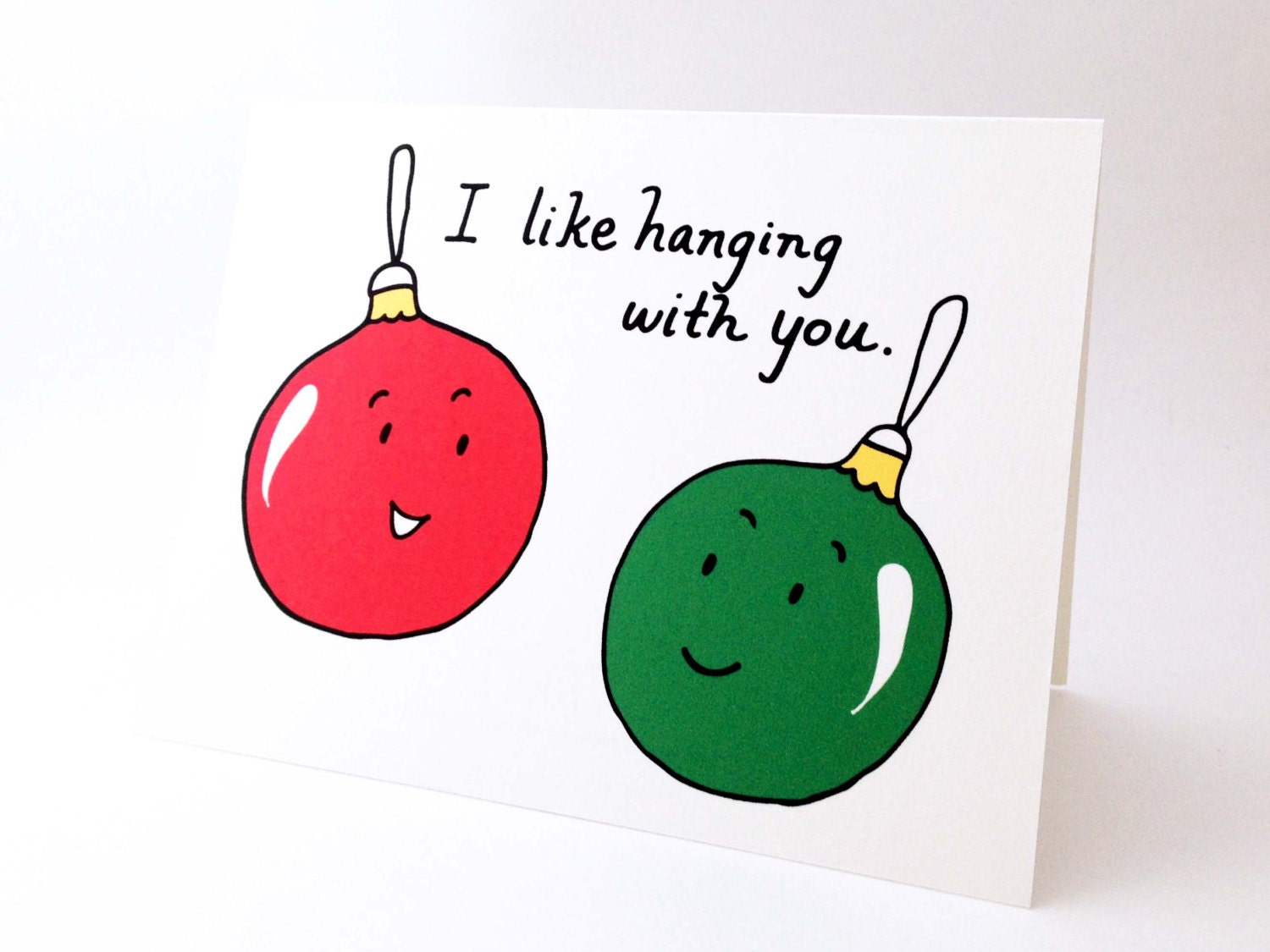 Cute best friend christmas card punny holiday love card Christmas ideas for your best friend