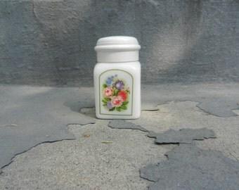 Avon milk glass jar