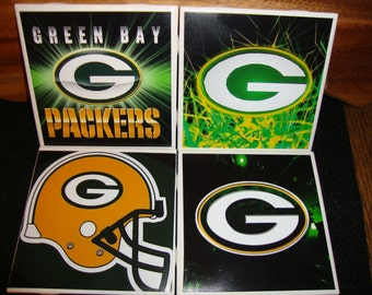 Green Bay Packers Coasters (set of 4)